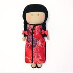 My Teeny-Tiny Doll®️ Cynthia - Handmade Fabric, Rag Doll