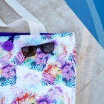 Zebra beach bag