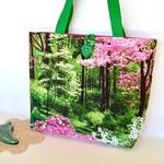 Green spring tote, handbag