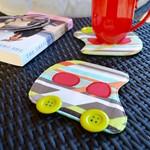 Car coaster pair