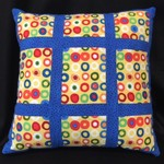 19B - BRIGHT SPOT WITH BLUE CUSHION - 14""