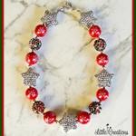 Christmas Rhinestone Star Necklace
