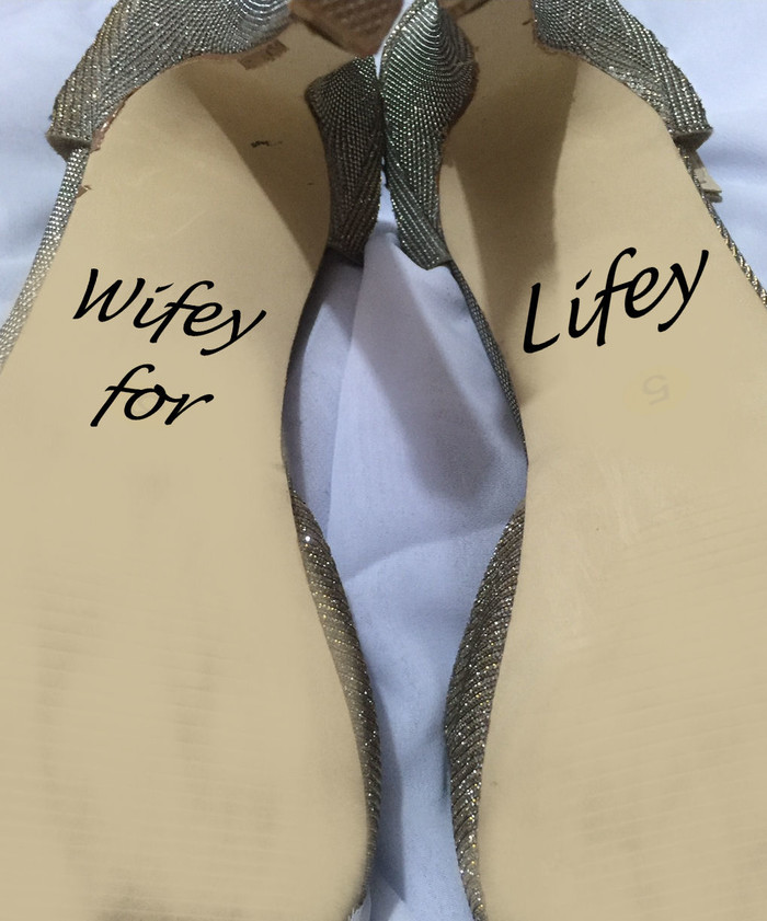0042d00e1d5 Wifey for Lifey Wedding Shoe Decal Sticker