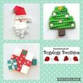 Christmas hair clip set
