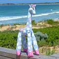 "Pink ""rabbit"" cot quilt or floor rug.  Add Pricilla Pink-Toes giraffe"