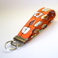 Wrist Key Fob / Keyring - Apples on Orange
