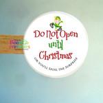 Christmas Sticker Labels - Do Not Open Labels for Packaging - Envelopes
