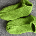 Pea Green Knitted Slipper Socks Bed Socks