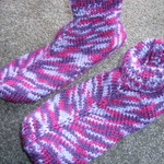 Multicoloured Knitted Slipper Socks Bed Socks
