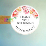 Thank You Handmade  Stickers - Labels for Gifts - Products - Handmade labels