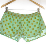 Bridesmaids~ Women's 1920's Mint and Gold Polka Dot Sleep Shorts Pyjamas Pijama