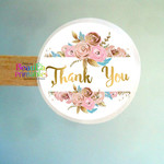 Thank You Gold Faux   Stickers - Labels for Gifts - Products - Thank You Labels