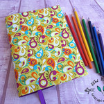 Rainglow Lime A5 Fabric Journal Notebook Cover
