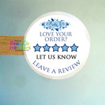 Review Feedback Stickers - Labels for Customer orders - Printed