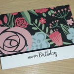 Female Happy Birthday card - modern floral print