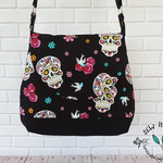 Glitter Skulls Crossbody Hobo Shoulder Bag