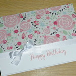 Female Happy Birthday card - pink roses