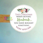 Handmade Christmas Stickers - Labels for Packaging - Handmade Labels