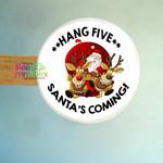 Santa Sticker Labels - Santa Hang Five Labels for Packaging - Envelopes