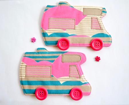 Motorhome coaster pair, anniversary gift