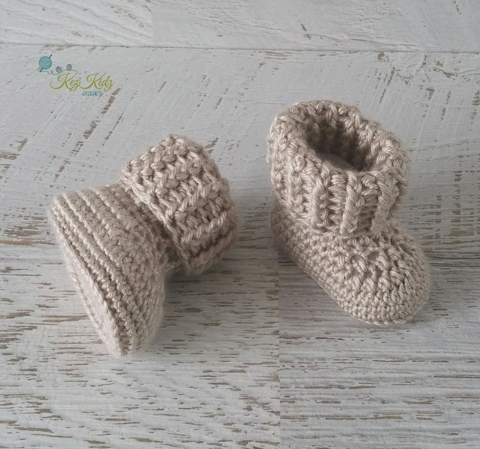 08ae401e3381 Fawn Newborn Crochet Baby Booties Shoes Socks Baby Reveal Pregnancy ...
