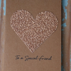 Valentine's Day Card To a Special Friend Card Birthday Card Friendship Card