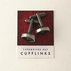 A+Z set of typewriter-key cufflinks - or CHOOSE YOUR OWN KEYS