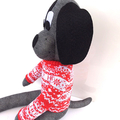 'Ding Dong' the Christmas Sock Dog - *MADE TO ORDER*
