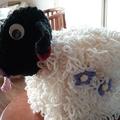 Fun, Funky Tissue Box Cosy BAA-tholomew Sheep Quality Easy Care Acrylic Yarn