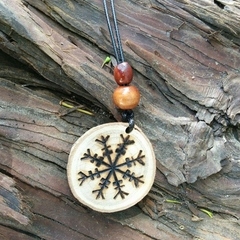 Viking hanging charm pendant for courage and success, Helm of Awe