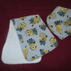 Minions Bandana Bib and Burp Cloth