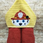 Marshall Fire Pup Hooded Towel