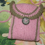 Handmade Crochet Pink Bag ~ Christmas Gift ~ Ready to Post