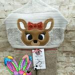 Reindeer Girl Hooded Towel