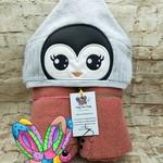 Penguin Girl Hooded Towel