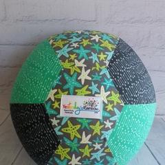 Balloon Ball: Starfish. Teal, Charcoal, Print