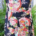 Apron - Kimono Fan - Black