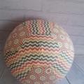 Balloon Ball: Hexies & Chevron in Pink, Peach, Grey tones