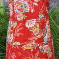 Apron - Kimono Fan- Red