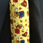 Grocery Bag Holder - Yellow Chicken Print