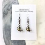 Bronze Teapot Earrings