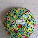 Balloon Ball: Lady Bugs on Green.
