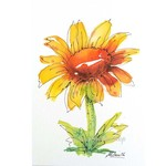 Original Sunflower Watercolour Painting Floral Wall Art