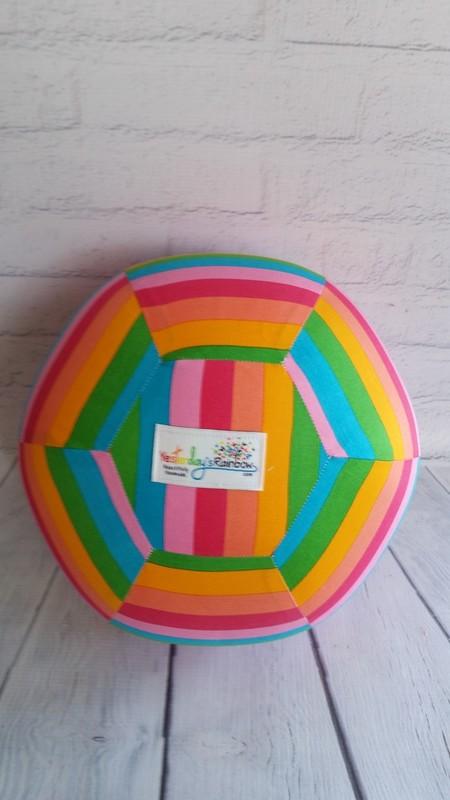 Balloon Ball: Rainbow Stripe, Kaleidoscope pattern