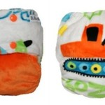 Digger Orange Minky OSFM Ai2 Modern Cloth Nappy