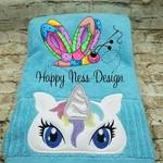 Embroidered Unicorn Bath Towel