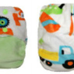 Truck Lime Minky OSFM Ai2 Modern Cloth Nappy