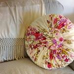 Voile Cushion - Vintage Floral Design