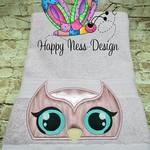 Embroidered Owl Bath Towel