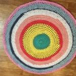 Handmade Crochet Rug - Multicoloured 130cm